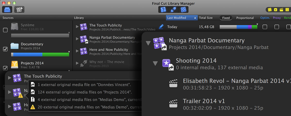 Final Cut Library Manager 2 FCPX