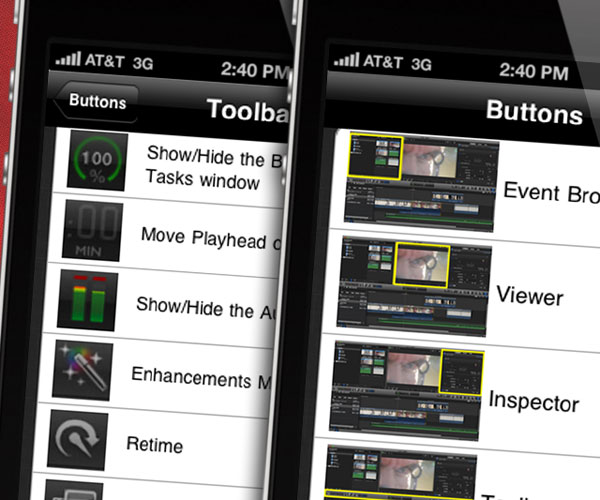 fcpx navigator for iphone
