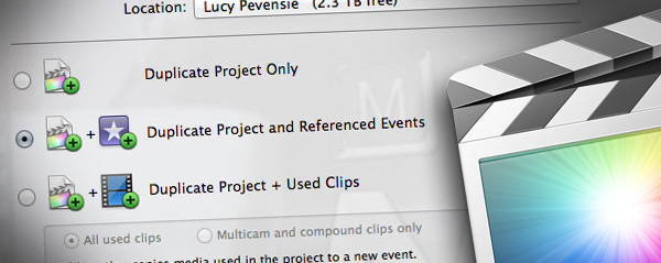 sharing projects fcpx