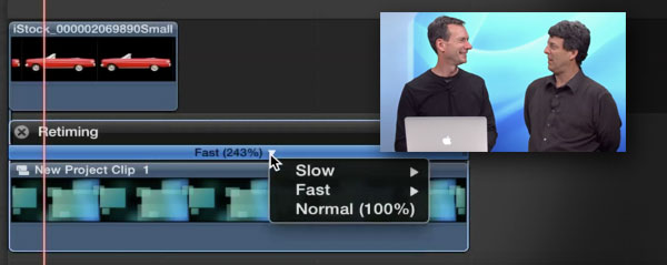 retiming generators fcpx