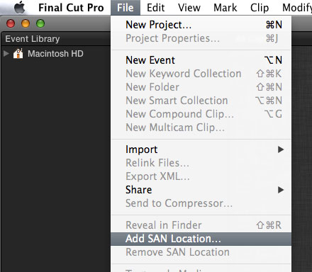 FCPX ADDSANLOCATION 01
