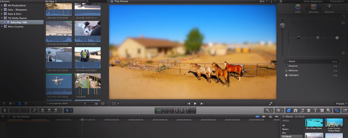 tilt shift fcpx macbreak