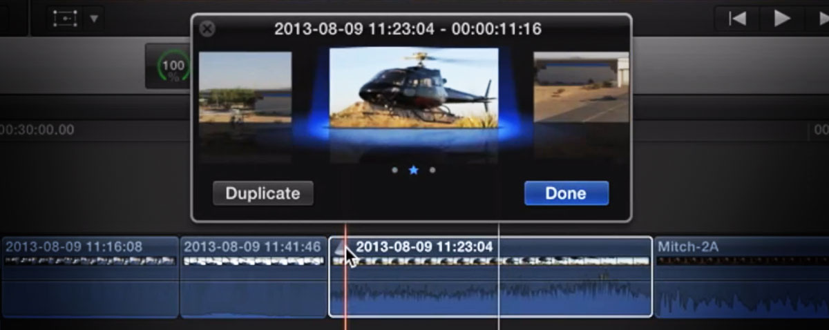 audition tricks fcpx