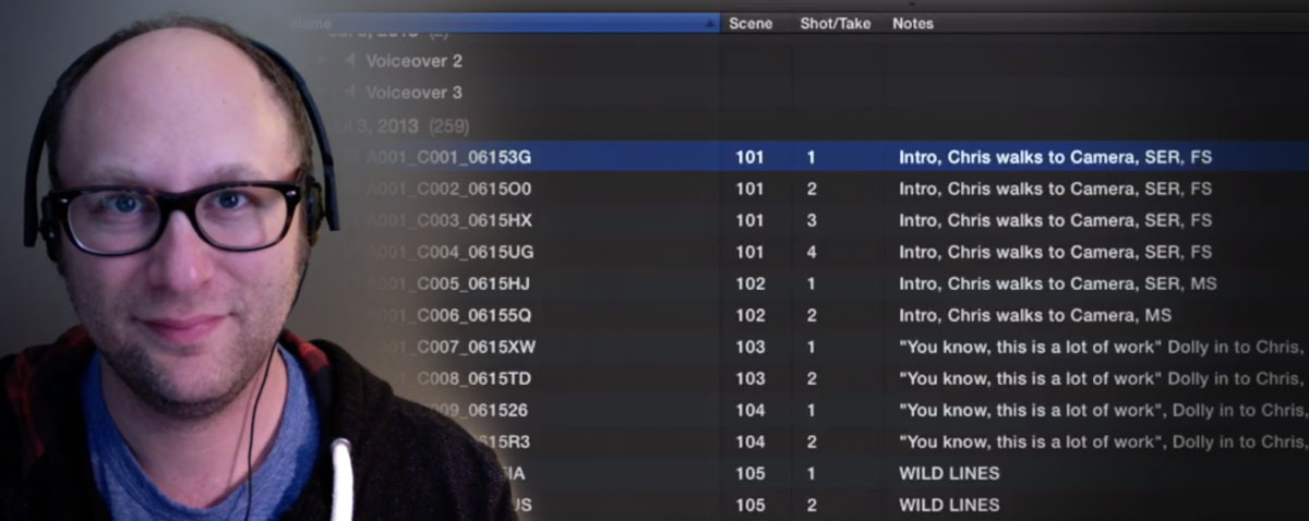 garber FCPX logging