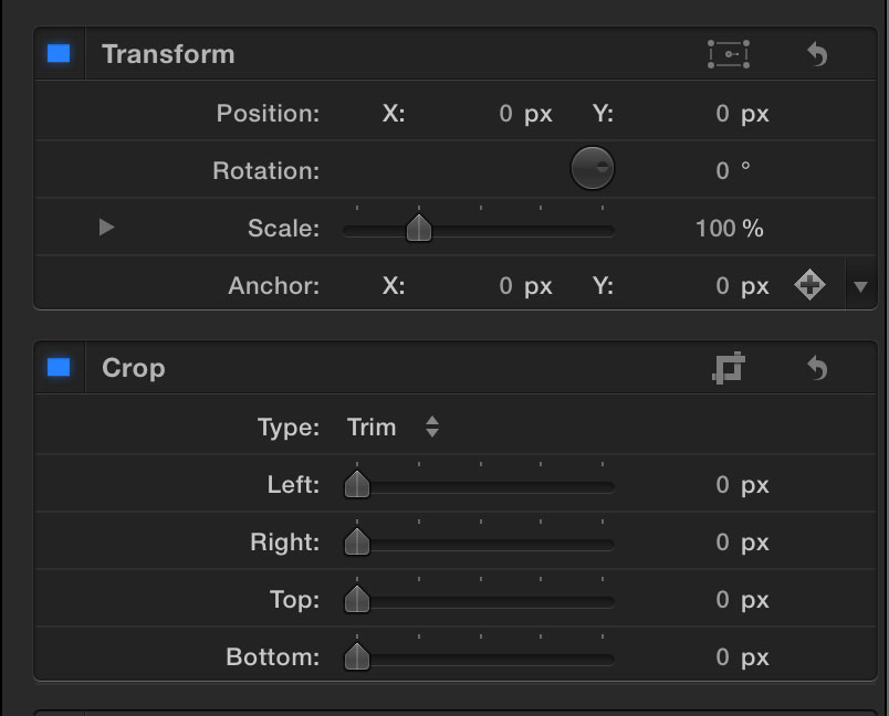 FCPX-inspector Good crop layout