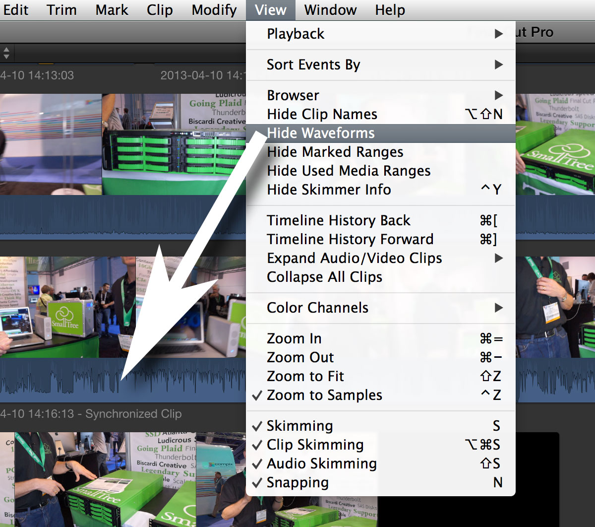 top ten fcpx pressure hide waveforms