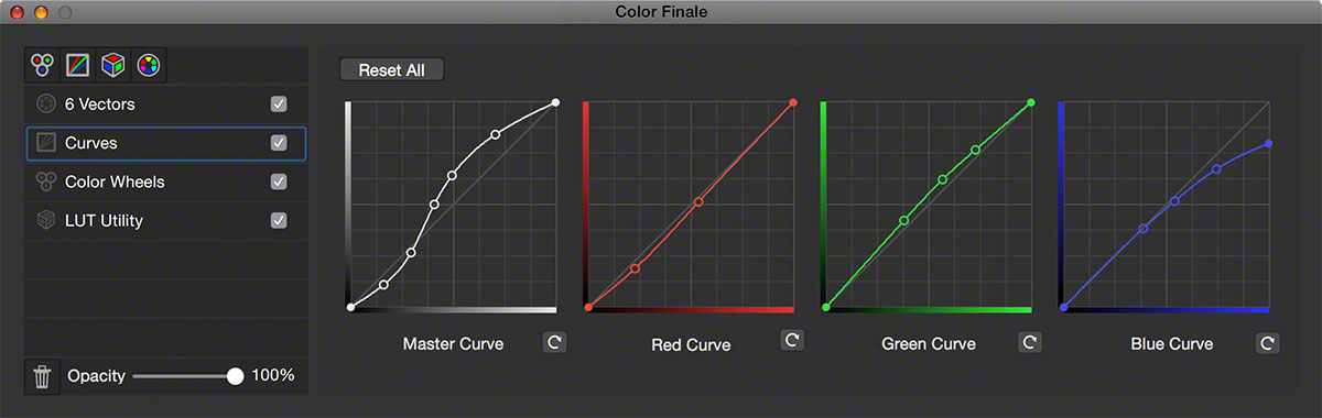 Interface curves FCPX