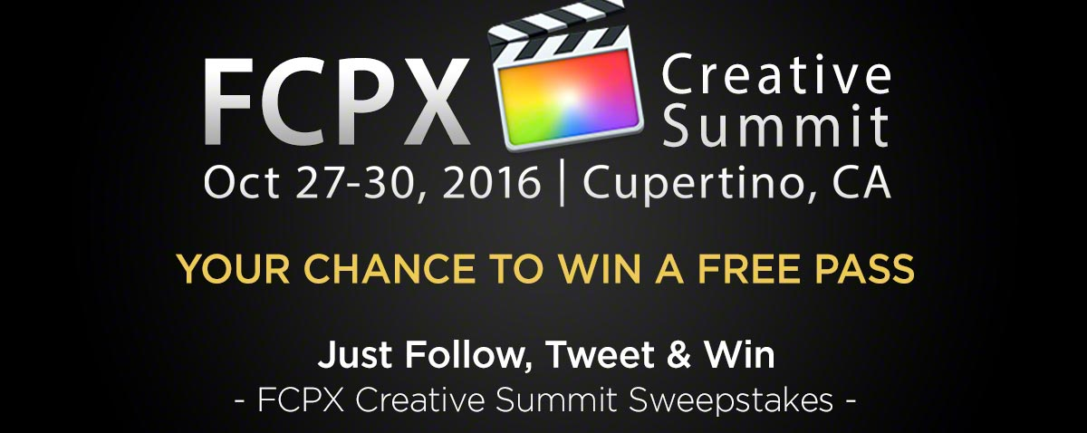 2016 FCPX creative summit banner