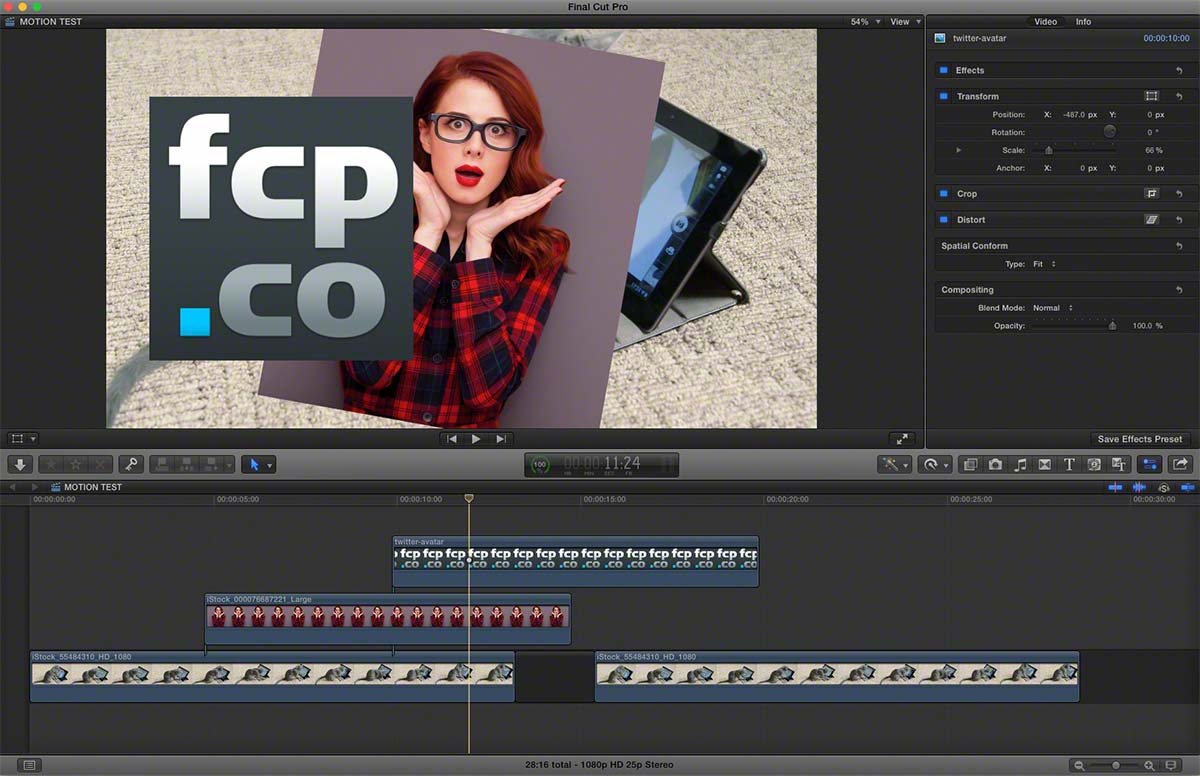 FCPX to Motion 1