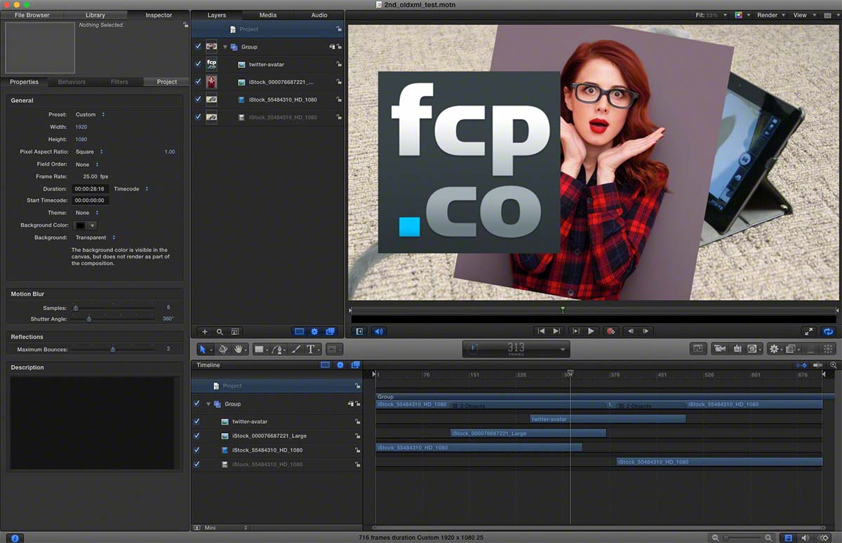FCPX to Motion 2