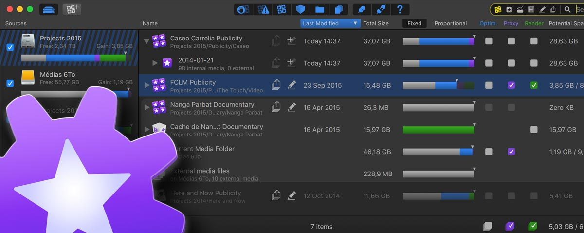 final cut library manager 3 fcpx