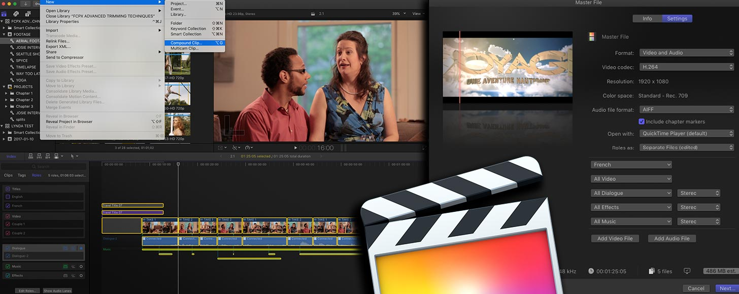 Maximizing Roles in Final Cut Pro X