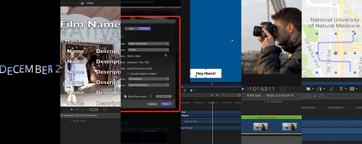 December's Final Cut Pro X and Motion Tutorial Roundup