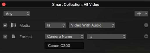 22 smart collection fcpx