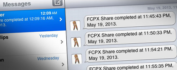 fcpx share imessage