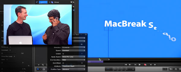 macbreak studio motion text