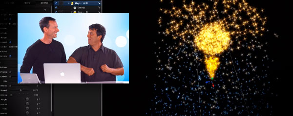 MacBreak particle dance Motion