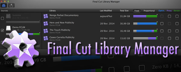Final cut library manager