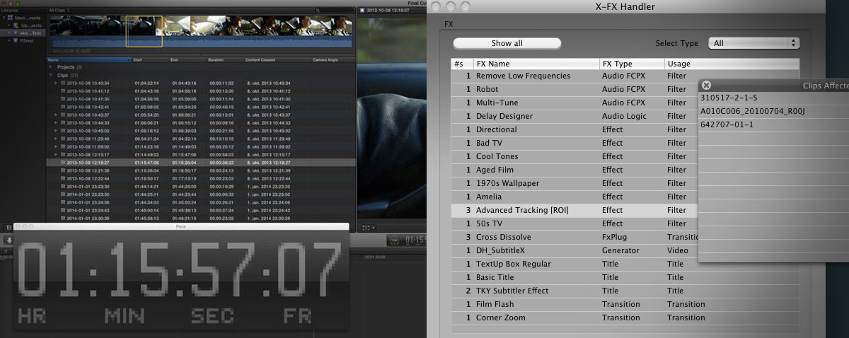 bigger timecode remove effects fcpx