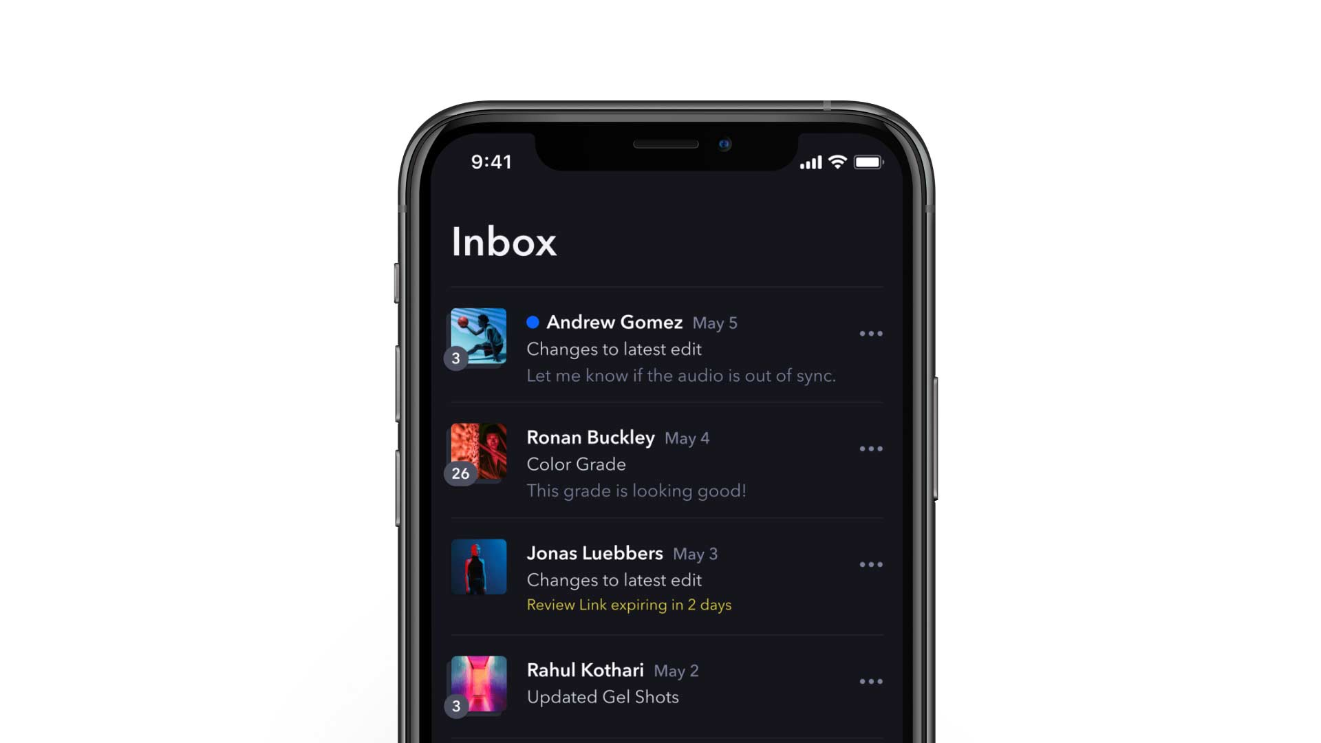 frameio 36 Secure Sharing Inbox